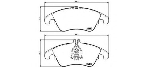 Комплект тормозных колодок, дисковый тормоз BREMBO арт. P50069