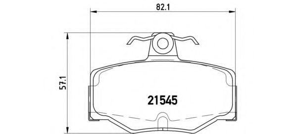 Комплект тормозных колодок, дисковый тормоз BREMBO арт. P56024