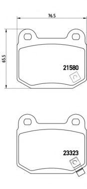 Колодки гальмівні дискові Brembo P56048