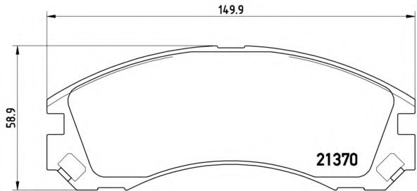 Комплект тормозных колодок, дисковый тормоз BREMBO арт. P61089
