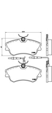 Комплект тормозных колодок, дисковый тормоз BREMBO арт.