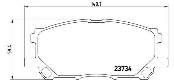 Комплект тормозных колодок, дисковый тормоз BREMBO арт. P83067