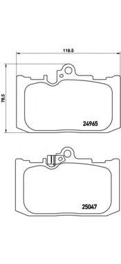 Комплект тормозных колодок, дисковый тормоз BREMBO арт. P83131