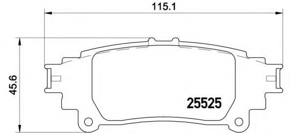 Комплект тормозных колодок, дисковый тормоз BREMBO арт. P83132