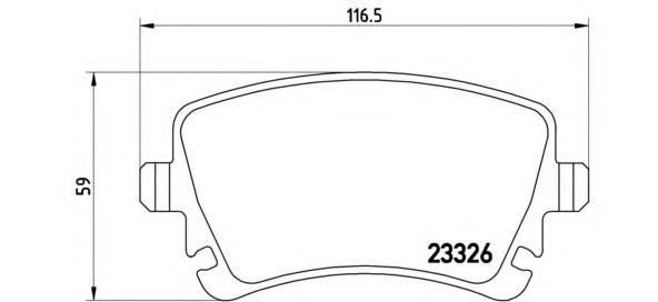 Комплект тормозных колодок, дисковый тормоз BREMBO арт. P85083