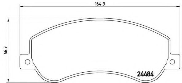 Комплект тормозных колодок, дисковый тормоз BREMBO арт. P85115