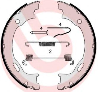 Комплект тормозных колодок, стояночная тормозная система BREMBO арт.