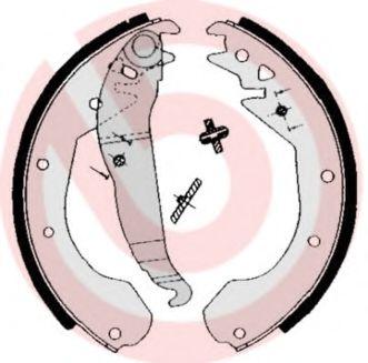 Комплект тормозных колодок BREMBO арт.