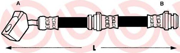 Тормозной шланг BREMBO арт.