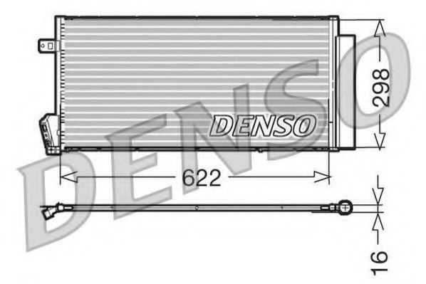Конденсатор, кондиционер Denso - DCN09018