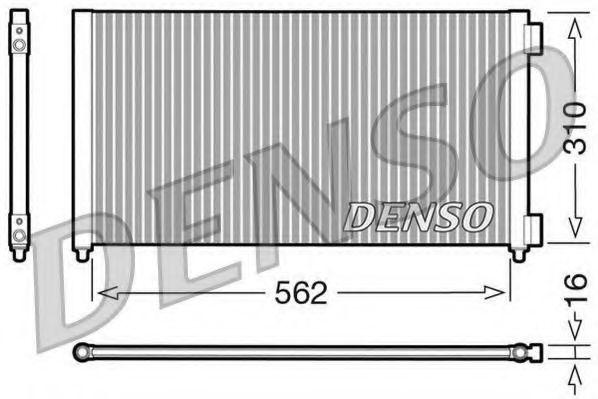 Радiатор кондицiонера Denso DCN09102