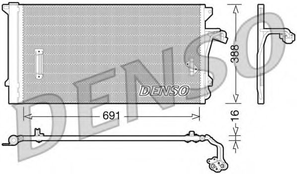 Радiатор кондицiонера Denso DCN02003