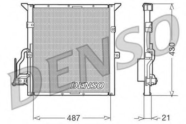 Радiатор кондицiонера Denso DCN05002