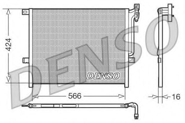 Радiатор кондицiонера Denso DCN05004
