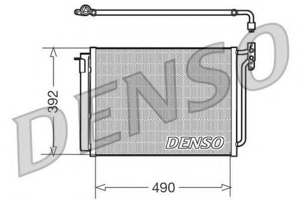 Радiатор кондицiонера Denso DCN05009