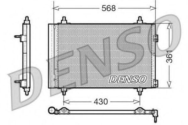 Радiатор кондицiонера Denso DCN07008