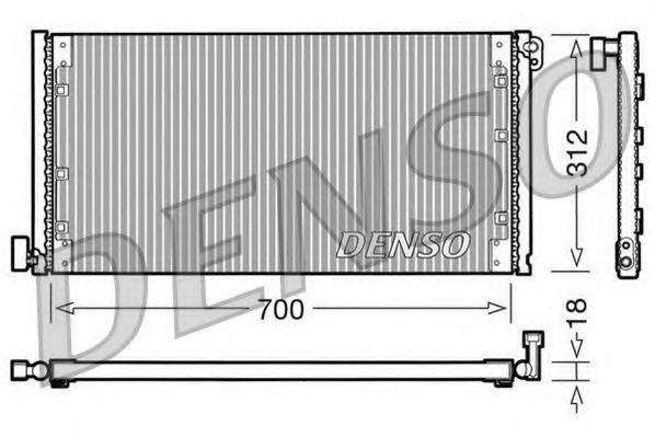 Конденсер кондиціонера Denso DCN12001
