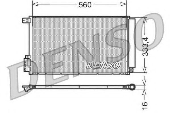 Конденсер кондиціонера Denso DCN13109