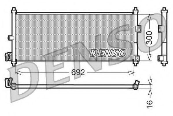 Радiатор кондицiонера Denso DCN46011