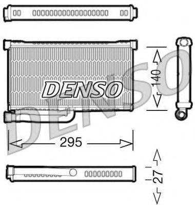Теплообменник, отопление салона Denso - DRR02004