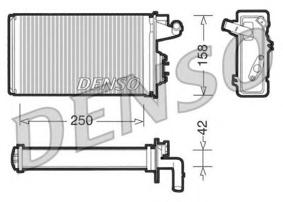 Теплообменник, отопление салона DENSO арт.
