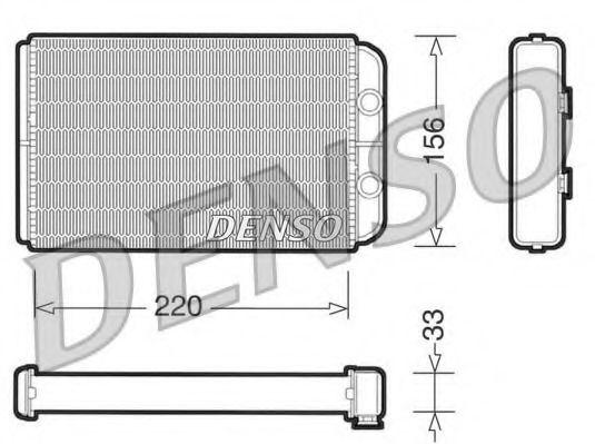 Радіатор пічки Denso DRR09090