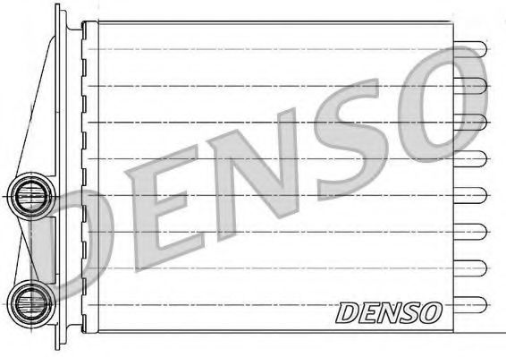Радіатор пічки Denso DRR23020