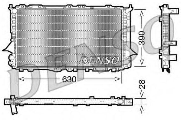 Радиатор, охлаждение двигателя DENSO арт.