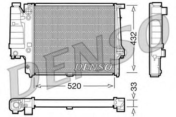 Радіатор охолоджування Denso DRM05060