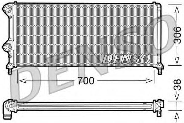 Радіатор охолоджування Denso DRM09060