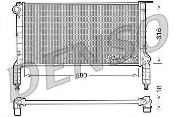 Радіатор охолоджування Denso DRM09063