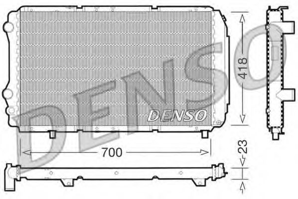 Радіатор охолоджування Denso DRM09077