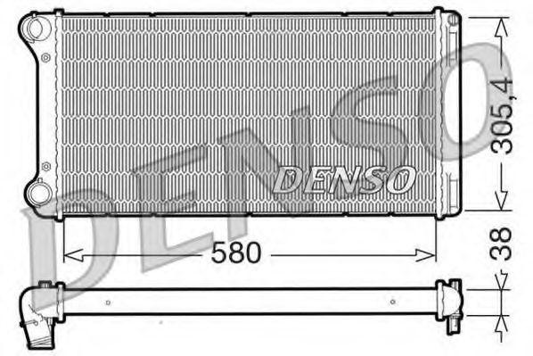 Радіатор охолоджування Denso DRM09103