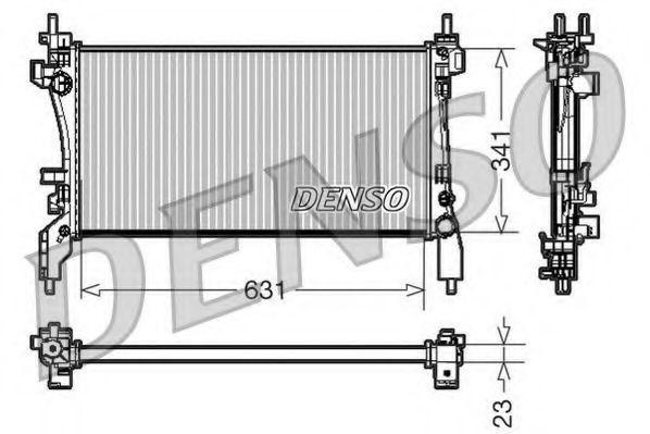 Радіатор охолоджування Denso DRM09172