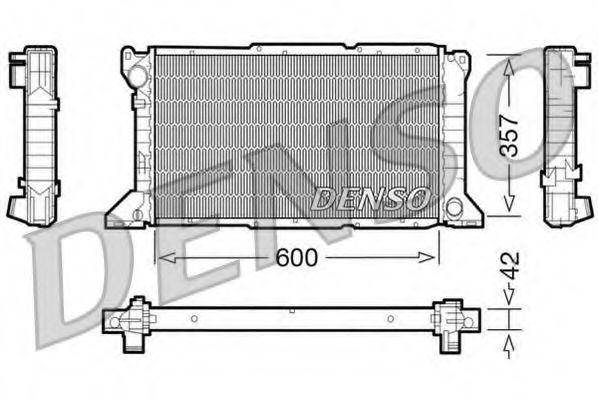 Радіатор охолоджування Denso DRM10100