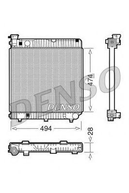 Радіатор охолоджування Denso DRM17001