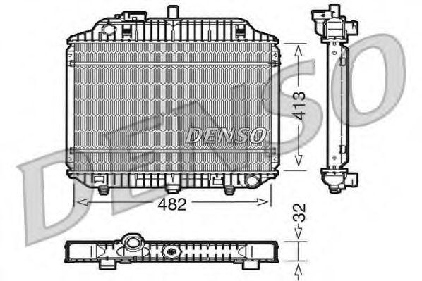 Радіатор охолоджування Denso DRM17010