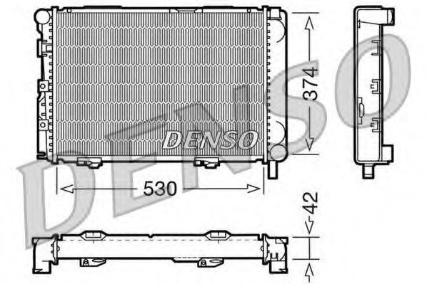 Радіатор охолоджування Denso DRM17025
