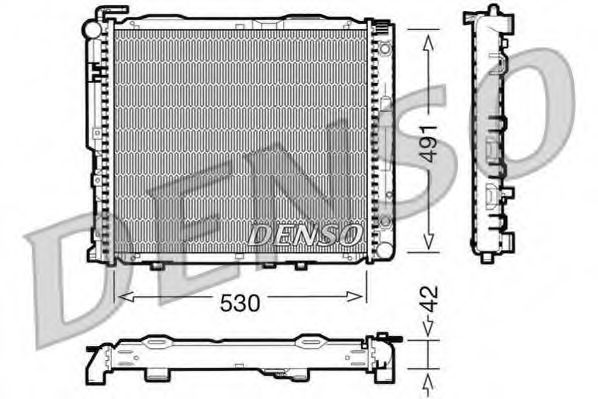 Радіатор охолоджування Denso DRM17037