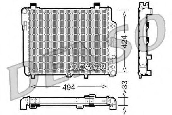 Радіатор охолоджування Denso DRM17075