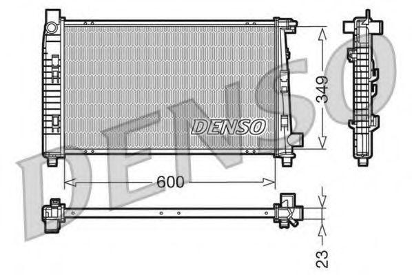 Радіатор охолоджування Denso DRM17100