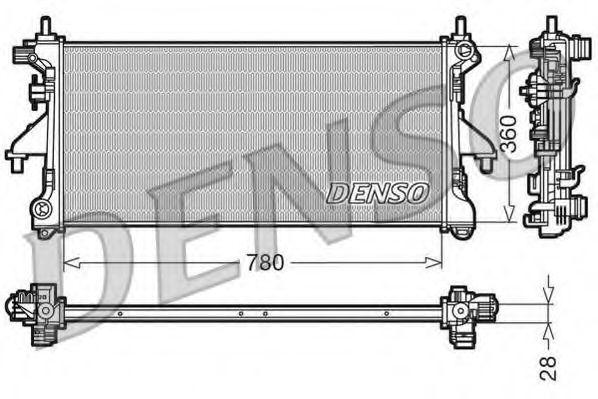 Радіатор охолоджування Denso DRM21101