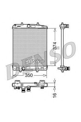 Радіатор охолоджування Denso DRM21603
