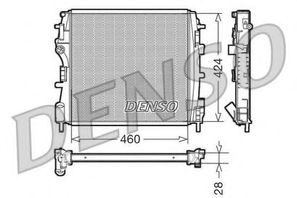 Радіатор охолоджування Denso DRM23019