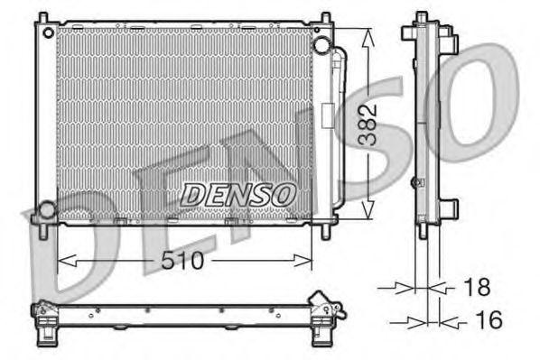 Радіатор охолоджування Denso DRM23100