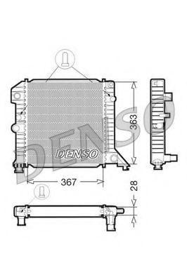 Радіатор охолоджування Denso DRM33020