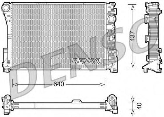 Радіатор охолоджування Denso DRM17045