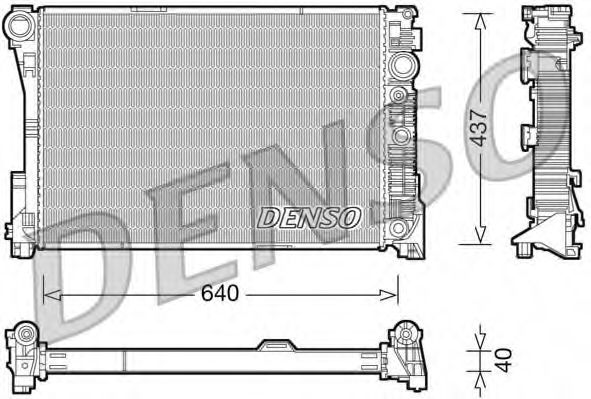Радіатор охолоджування Denso DRM17046