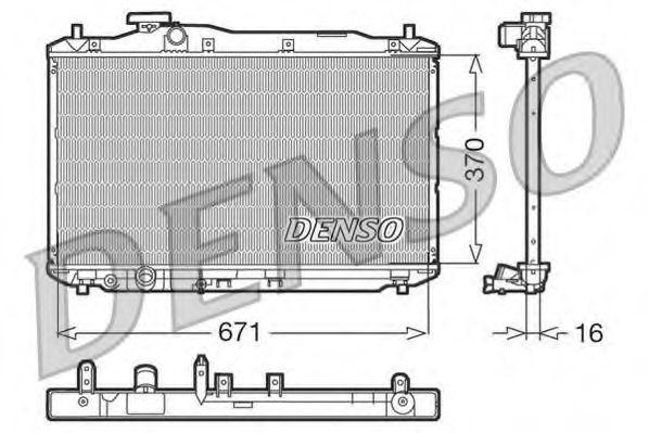 Радіатор охолоджування Denso DRM40005