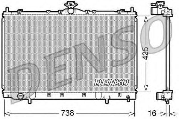 Радіатор охолоджування Denso DRM45012